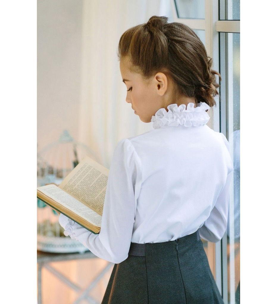 Белая блузка для девочки купить доставка