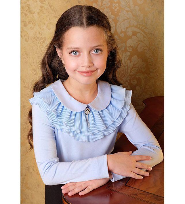 Блузка Для Девочки Трикотажная Купить В