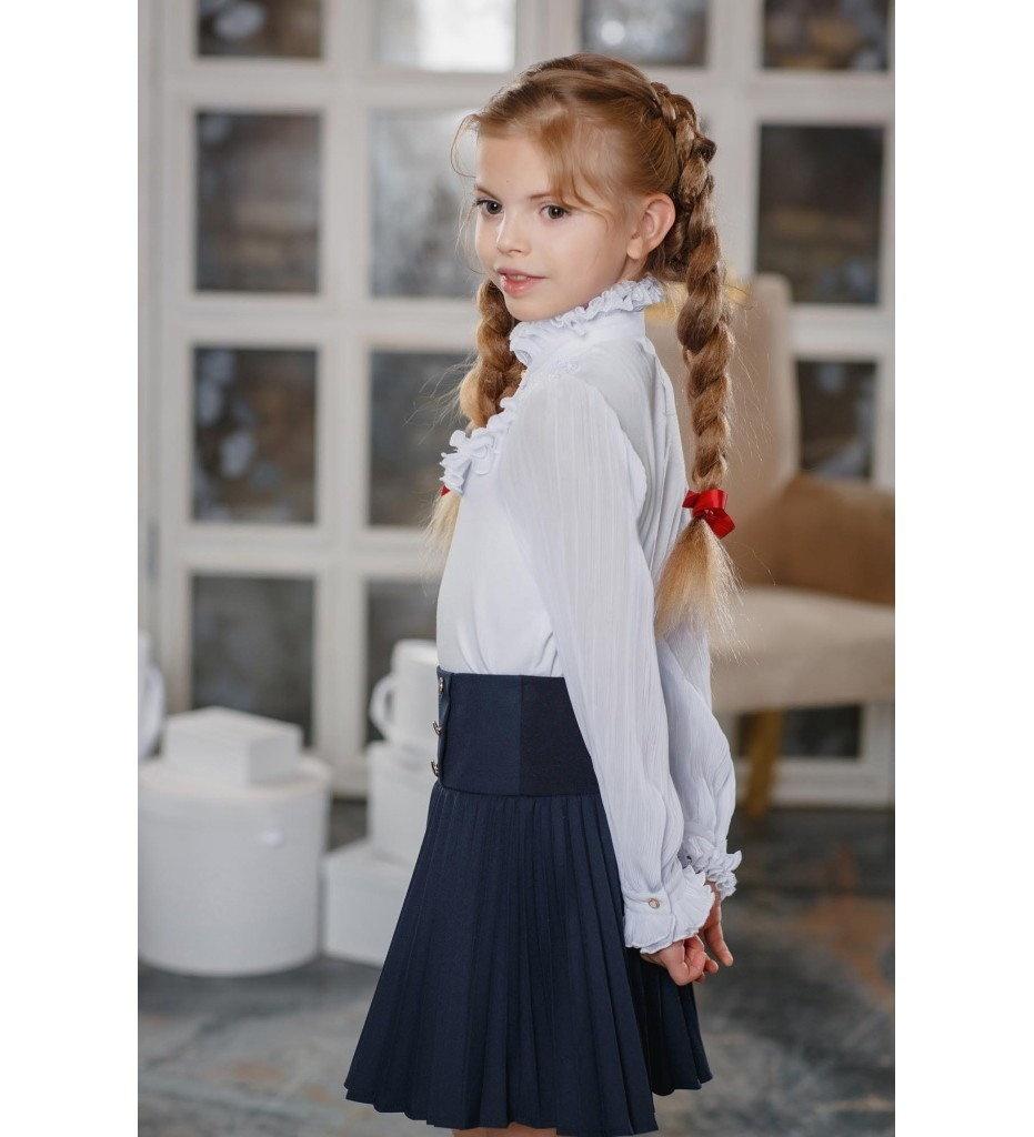 Белая блузка для девочки доставка